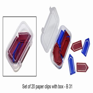 B31 – Set Of 20 Paper Clips With Box