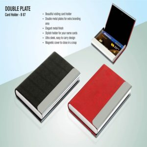 B87 – Double Plate Card Holder