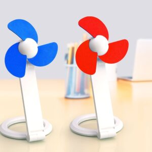 Folding Table Usb Fan With Safety Blades And USB Cable