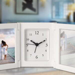Folding Alarm Clock With Photo Frame And Mirror