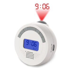Round Digital clock with backlight, projection clock and FM