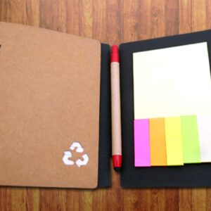 Eccy: Eco Notebook With Pen And Sticky Pads