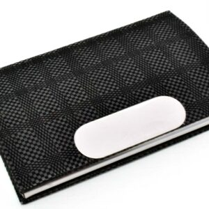 Leatherette Card Holder With Soft Fabric Feel