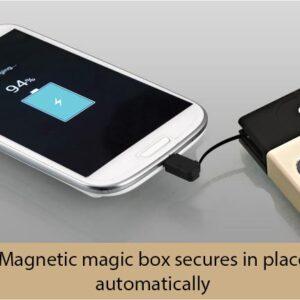 Magic Box Premium Power Bank (10000 Mah) (In-Built Cables) (For All Smartphones)