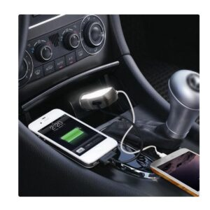 Glow up: Light up car charger with Full glowing area (Dual USB Ports) (2.4A output)