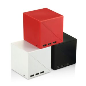 Folding USB hub tumbler with notepad and sticky pads | 3 USB ports