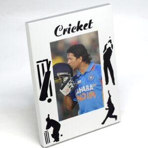 Cricket Photo Frame (Metal)