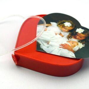Dual Frame: Rotating Heart Shape Dual Photo Frame