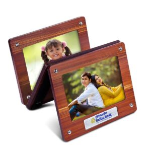 Hanging 3 pc wooden photo frame with Metal plate (4×6 size) (printing included MOQ 100 pc)