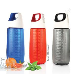 Fruit infuser bottle with silicon handle grip (700ml approx) | BPA free