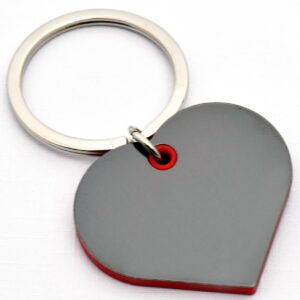 Heart Shape Keychain With Highlights