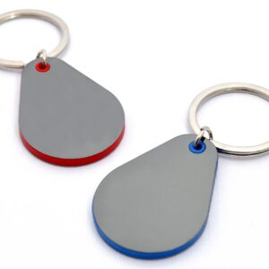 Droplet Shape Keychain With Highlights